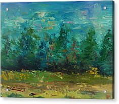 Plein Air With Palette Knives Acrylic Print by Carol Berning