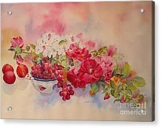 Acrylic Print featuring the painting Plentiful by Beatrice Cloake