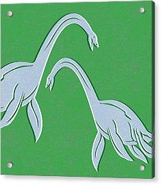 Plesiosaurus Acrylic Print by Linda Woods