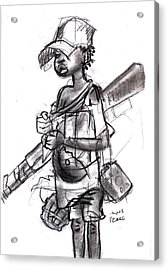 Plight Of A Child Soldier Acrylic Print by Okwir Isaac
