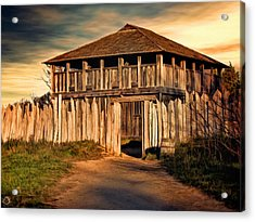 Plimouth Plantation  Meeting House Acrylic Print by Lourry Legarde