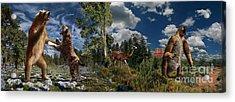 Pliocene - Pleistocene Mural 2 Acrylic Print