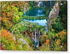 Plitvice Lakes In Croatia Acrylic Print by Artur Bogacki