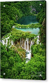 Plitvice Lakes National Park - A Heavenly Crystal Clear Waterfall Vista, Croatia Acrylic Print