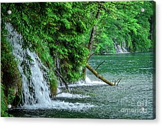 Plitvice Lakes National Park, Croatia - The Intersection Of Upper And Lower Lakes Acrylic Print