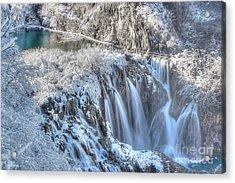Plitvice Winter Acrylic Print