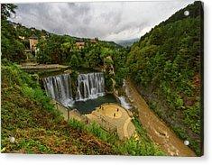 Pliva Waterfall, Jajce, Bosnia And Herzegovina Acrylic Print
