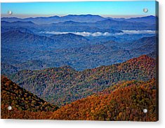 Plott Balsam Overlook In Autumn Acrylic Print by Rick Berk