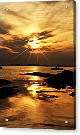Plum Cove Beach Sunset E Acrylic Print
