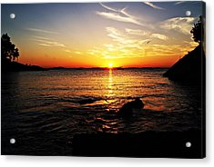 Plum Cove Beach Sunset G Acrylic Print