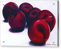 Plum Crazy Acrylic Print by Colleen Brown
