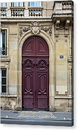 Plum Door - Paris, France Acrylic Print