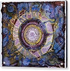 Plum Spire Acrylic Print by Tom Hefko