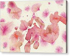 Plum Trees - #ss16dw017 Acrylic Print by Satomi Sugimoto