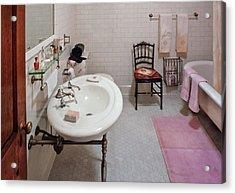 Plumber - The Bathroom  Acrylic Print by Mike Savad