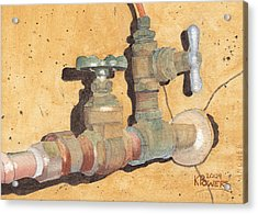 Plumbing Acrylic Print by Ken Powers