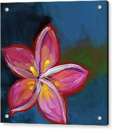 Plumeria- Art By Linda Woods Acrylic Print