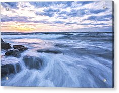 Plunge Into The Blue II Acrylic Print