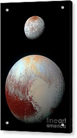 Acrylic Print featuring the photograph Pluto And Charon by Nicholas Burningham
