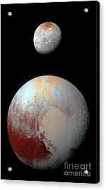 Pluto And Charon Acrylic Print by Nicholas Burningham