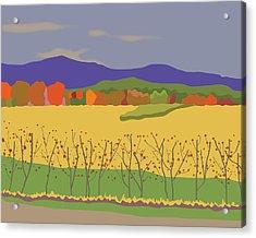 Plymouth Landscape Acrylic Print by Marian Federspiel