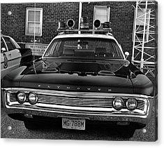 Plymouth Police Car Acrylic Print by Paul Seymour