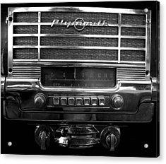 Plymouth Radio Acrylic Print by Audrey Venute