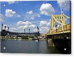 Pnc Park And Roberto Clemente Bridge Pittsburgh Pa Acrylic Print by Kristen Vota