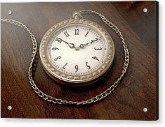Pocket Watch On Chain Acrylic Print