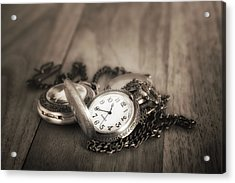 Pocket Watches Times Three Acrylic Print
