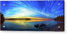 Pocomoonshine Sunset 1 Acrylic Print by ABeautifulSky Photography