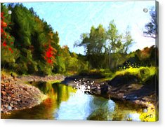 Poconos Landscape Acrylic Print by Chamira Young