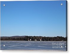 Poconos, The Lake In January Acrylic Print
