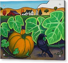 Poes Crow Acrylic Print