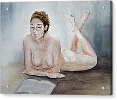 Poetry Acrylic Print by Monika Degan
