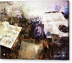 Poets In Picardy Acrylic Print by Claire Bull