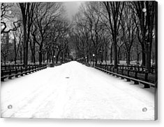 Poet's Walk In Snow Acrylic Print