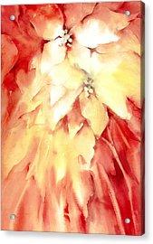 Poinsettias Acrylic Print by Joan  Jones