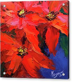 Poinsettias Acrylic Print by Mike Moyers