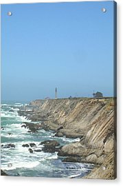 Point Arena Lighthouse - Vertical Acrylic Print by Bonnie Muir