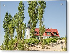Acrylic Print featuring the photograph Point Betsie Lighthouse by Sue Smith