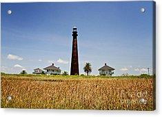 Point Bolivar Lighthouse Acrylic Print by Scott Pellegrin