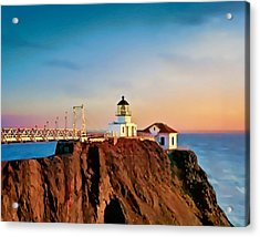 Acrylic Print featuring the painting Point Bonita Lighthouse by Douglas MooreZart