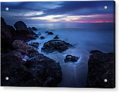 Point Dume Rock Formations Acrylic Print
