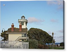Point Fermin Light - An Elegant Victorian Style Lighthouse In Ca Acrylic Print by Christine Till