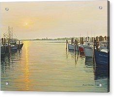 Point Judith Harbor Acrylic Print by Bruce Dumas