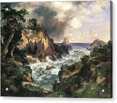 Point Lobos Monterey California Acrylic Print by Thomas Moran