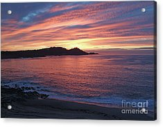 Point Lobos Red Sunset Acrylic Print