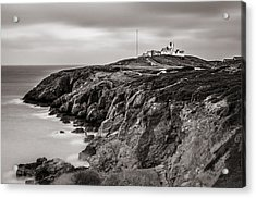 Point Lynas Lighthouse In Llaneilian On Anglesey Acrylic Print