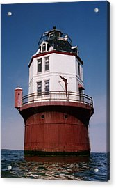 Point No Point Lighthouse Chesapeake Bay Maryland Acrylic Print by Wayne Higgs